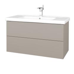 Dřevojas - Koupelnová skříň VARIANTE SZZ2 100 (umyvadlo Harmonia) - N07 Stone / N07 Stone (193430)