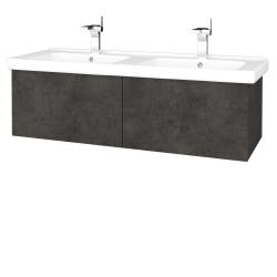 Dřevojas - Koupelnová skříň VARIANTE SZZ2 125 (umyvadlo Harmonia) - D16  Beton tmavý / D16 Beton tmavý (193560)