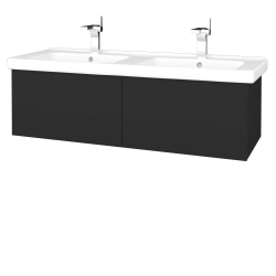 Dřevojas - Koupelnová skříň VARIANTE SZZ2 125 (umyvadlo Harmonia) - N03 Graphite / N03 Graphite (193867)