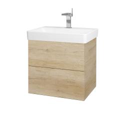 Dřevojas - Koupelnová skříň VARIANTE SZZ2 60 - D15 Nebraska / D15 Nebraska (194567)