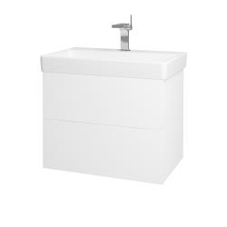 Dřevojas - Koupelnová skříň VARIANTE SZZ2 70 - M01 Bílá mat / M01 Bílá mat (194994)