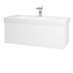 Dřevojas - Koupelnová skříň VARIANTE SZZ 105 - M01 Bílá mat / M01 Bílá mat (195601)