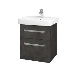 Dřevojas - Koupelnová skříň Q MAX SZZ2 55 - D16  Beton tmavý / Úchytka T01 / D16 Beton tmavý (197988A)