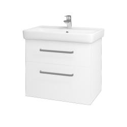 Dřevojas - Koupelnová skříň Q MAX SZZ2 70 - M01 Bílá mat / Úchytka T01 / M01 Bílá mat (198374A)
