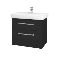 Dřevojas - Koupelnová skříň Q MAX SZZ2 70 - N03 Graphite / Úchytka T03 / N03 Graphite (198497C)