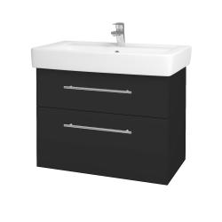 Dřevojas - Koupelnová skříň Q MAX SZZ2 80 - N03 Graphite / Úchytka T02 / N03 Graphite (198695B)