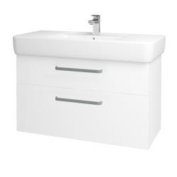 Dřevojas - Koupelnová skříň Q MAX SZZ2 100 - M01 Bílá mat / Úchytka T01 / M01 Bílá mat (198770A)