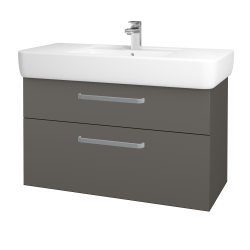 Dřevojas - Koupelnová skříň Q MAX SZZ2 100 - N06 Lava / Úchytka T01 / N06 Lava (198893A)