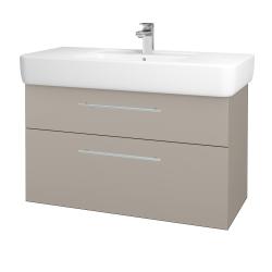 Dřevojas - Koupelnová skříň Q MAX SZZ2 100 - N07 Stone / Úchytka T02 / N07 Stone (198909B)