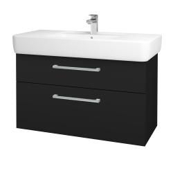 Dřevojas - Koupelnová skříň Q MAX SZZ2 100 - N08 Cosmo / Úchytka T03 / N08 Cosmo (198916C)
