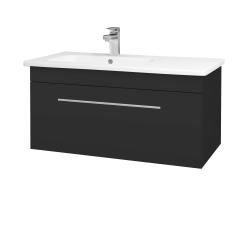 Dřevojas - Koupelnová skříň ASTON SZZ 90 - N03 Graphite / Úchytka T02 / N03 Graphite (199869B)