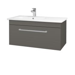 Dřevojas - Koupelnová skříň ASTON SZZ 90 - N06 Lava / Úchytka T03 / N06 Lava (199876C)