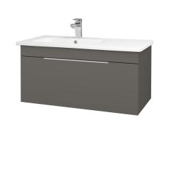 Dřevojas - Koupelnová skříň ASTON SZZ 90 - N06 Lava / Úchytka T05 / N06 Lava (199876F)