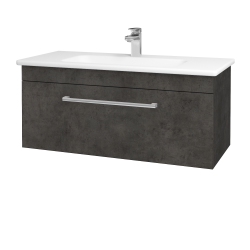 Dřevojas - Koupelnová skříň ASTON SZZ 100 - D16  Beton tmavý / Úchytka T03 / D16 Beton tmavý (199906C)