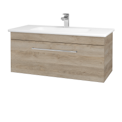 Dřevojas - Koupelnová skříň ASTON SZZ 100 - D17 Colorado / Úchytka T04 / D17 Colorado (199913E)