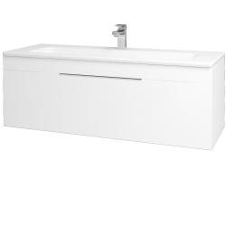 Dřevojas - Koupelnová skříň ASTON SZZ 120 - M01 Bílá mat / Úchytka T05 / M01 Bílá mat (200084F)