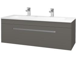 Dřevojas - Koupelnová skříň ASTON SZZ 120 - N06 Lava / Úchytka T01 / N06 Lava (200190AU)