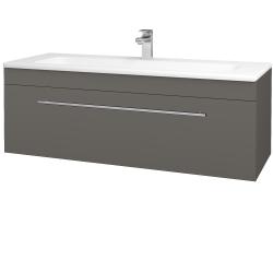 Dřevojas - Koupelnová skříň ASTON SZZ 120 - N06 Lava / Úchytka T02 / N06 Lava (200190B)