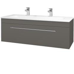 Dřevojas - Koupelnová skříň ASTON SZZ 120 - N06 Lava / Úchytka T02 / N06 Lava (200190BU)