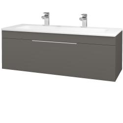 Dřevojas - Koupelnová skříň ASTON SZZ 120 - N06 Lava / Úchytka T05 / N06 Lava (200190FU)