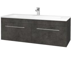 Dřevojas - Koupelnová skříň ASTON SZZ2 120 - D16  Beton tmavý / Úchytka T02 / D16 Beton tmavý (200220B)