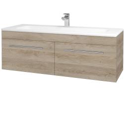 Dřevojas - Koupelnová skříň ASTON SZZ2 120 - D17 Colorado / Úchytka T02 / D17 Colorado (200237B)