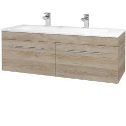 Dřevojas - Koupelnová skříň ASTON SZZ2 120 - D17 Colorado / Úchytka T02 / D17 Colorado (200237BU)