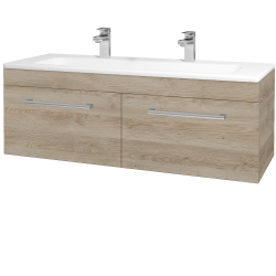 Dřevojas - Koupelnová skříň ASTON SZZ2 120 - D17 Colorado / Úchytka T03 / D17 Colorado (200237CU)