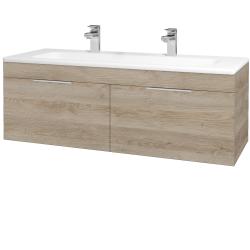Dřevojas - Koupelnová skříň ASTON SZZ2 120 - D17 Colorado / Úchytka T05 / D17 Colorado (200237FU)