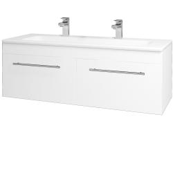 Dřevojas - Koupelnová skříň ASTON SZZ2 120 - M01 Bílá mat / Úchytka T02 / M01 Bílá mat (200244BU)