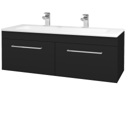 Dřevojas - Koupelnová skříň ASTON SZZ2 120 - N08 Cosmo / Úchytka T04 / N08 Cosmo (200374EU)