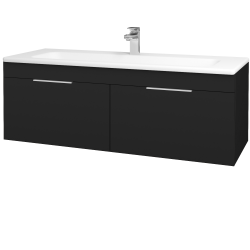 Dřevojas - Koupelnová skříň ASTON SZZ2 120 - N08 Cosmo / Úchytka T05 / N08 Cosmo (200374F)