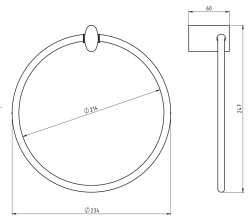 NOVASERVIS - Kruhový držák ručníků Metalia 10 chrom (0001,0), fotografie 4/2