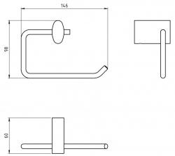 NOVASERVIS - Závěs toaletního papíru Metalia 10 chrom (0031,0), fotografie 4/2