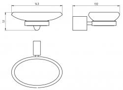 NOVASERVIS - Mýdlenka sklo Metalia 10 chrom (0036,0), fotografie 4/2