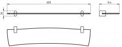 NOVASERVIS - Polička rovná Metalia 10 chrom (0040,0), fotografie 4/2