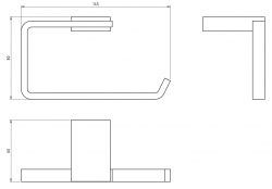 NOVASERVIS - Závěs toaletního papíru Metalia 9 chrom (0931,0), fotografie 4/2