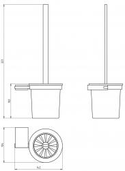 NOVASERVIS - WC štětka Metalia 9 chrom (0933,0), fotografie 4/2