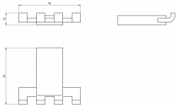 NOVASERVIS - Čtyřháček Metalia 9 chrom (0943,0), fotografie 4/2