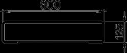 NOVASERVIS - Polička zaoblená Metalia 4 chrom (6440,0), fotografie 6/3