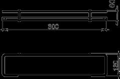 NOVASERVIS - Polička zaoblená se zábradlím Metalia 4 chrom (6453,0), fotografie 4/2