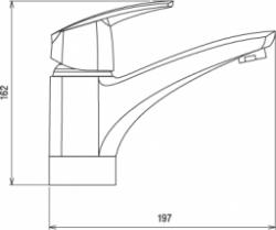 NOVASERVIS - Umyvadlová dřezová baterie Metalia 56 chrom (50096,0), fotografie 4/2