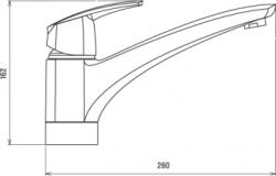 NOVASERVIS - Dřezová baterie Metalia 56 chrom (50091,0), fotografie 4/2
