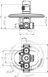 NOVASERVIS - Podomítkový termostat Aquamat chrom (2651,0), fotografie 4/2
