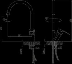 NOVASERVIS - Dřezová baterie BRADO chrom (80713,0), fotografie 4/2