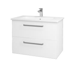 Dřevojas - Koupelnová skříň GIO SZZ2 80 - M01 Bílá mat / Úchytka T01 / M01 Bílá mat (202163A)