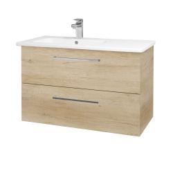 Dřevojas - Koupelnová skříň GIO SZZ2 90 - D15 Nebraska / Úchytka T04 / D15 Nebraska (202408E)