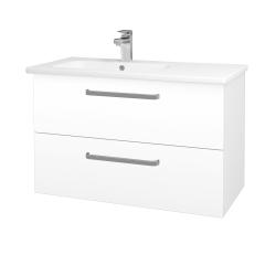 Dřevojas - Koupelnová skříň GIO SZZ2 90 - M01 Bílá mat / Úchytka T01 / M01 Bílá mat (202460A)