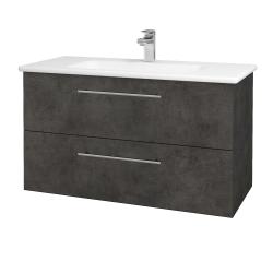 Dřevojas - Koupelnová skříň GIO SZZ2 100 - D16  Beton tmavý / Úchytka T02 / D16 Beton tmavý (202750B)