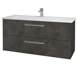 Dřevojas - Koupelnová skříň GIO SZZ2 120 - D16  Beton tmavý / Úchytka T01 / D16 Beton tmavý (202910A)